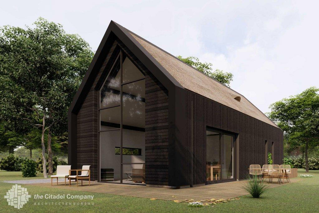 Architectuur_Moderne houten woning Wijhe