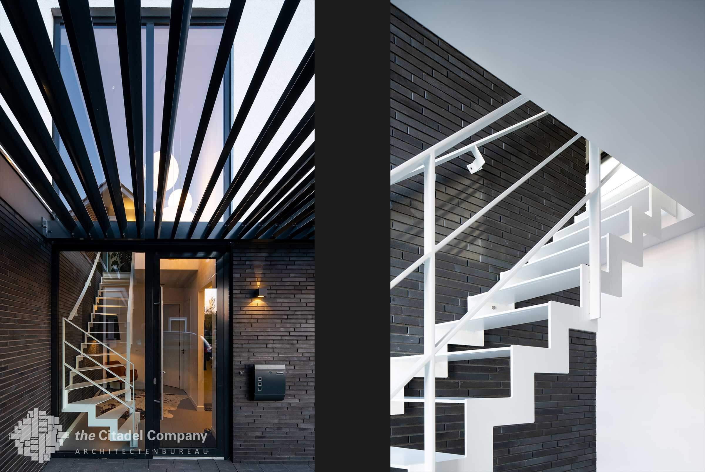 Moderne kubistische vrijstaande woning