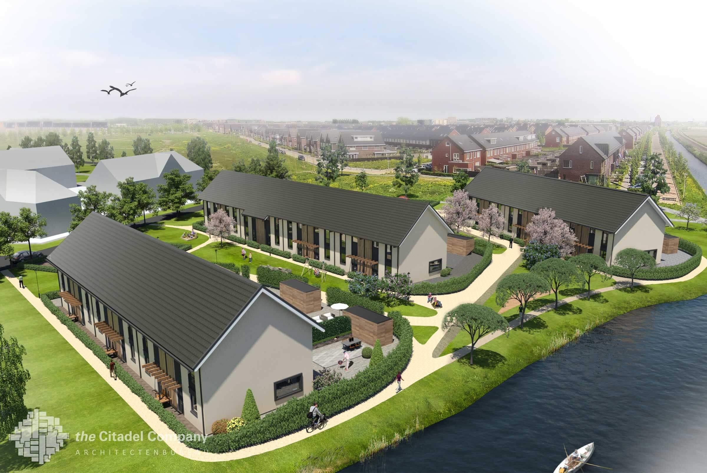 Stedenbouwkundig plan Vrij Werkeren Zwolle_Vogelimpressie