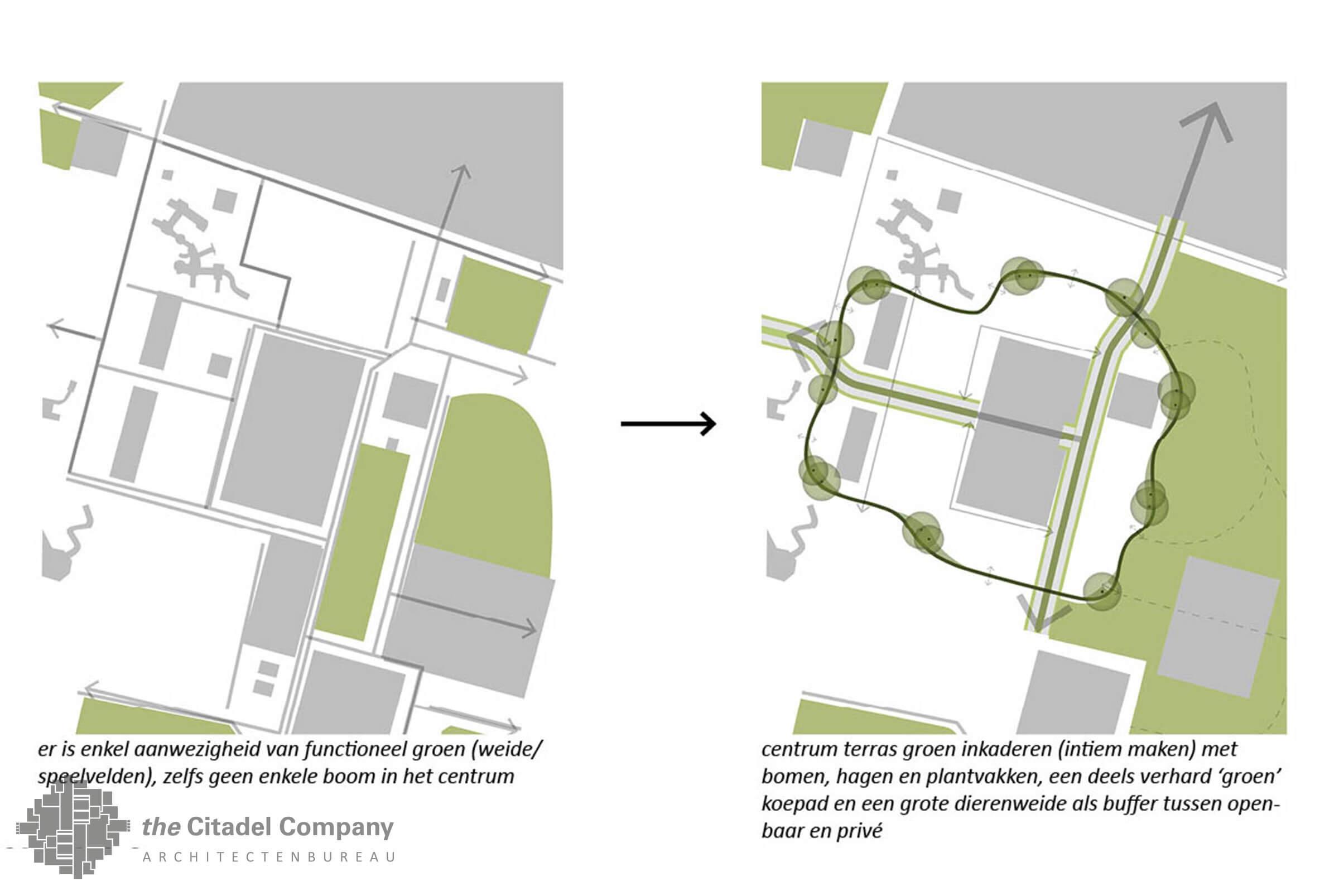 Terreininrichtingsplan de Flierefluiter, Raalte_nieuwe groenstructuur