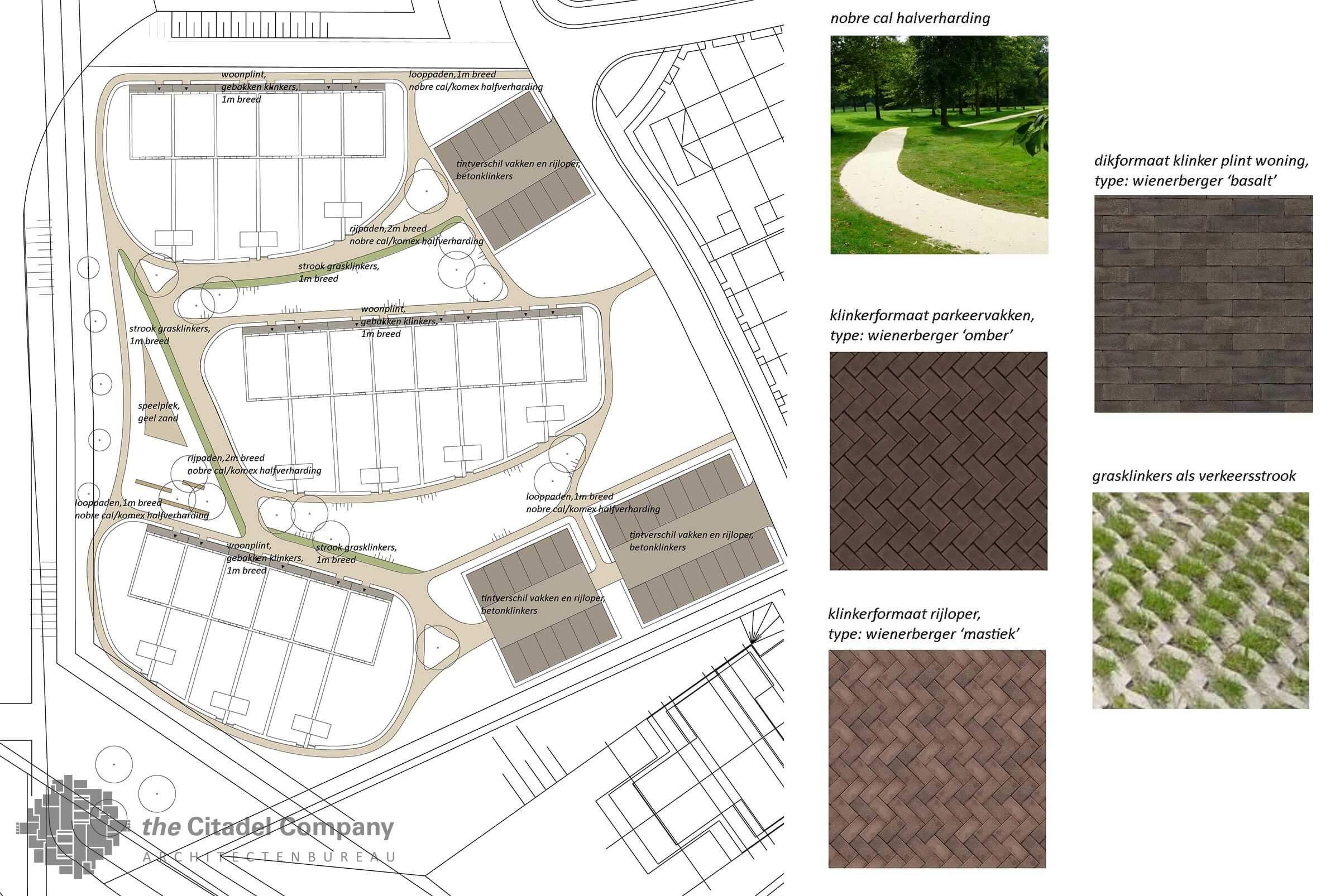 Stedenbouwkundig plan Vrij Werkeren Zwolle_Matriaalplan