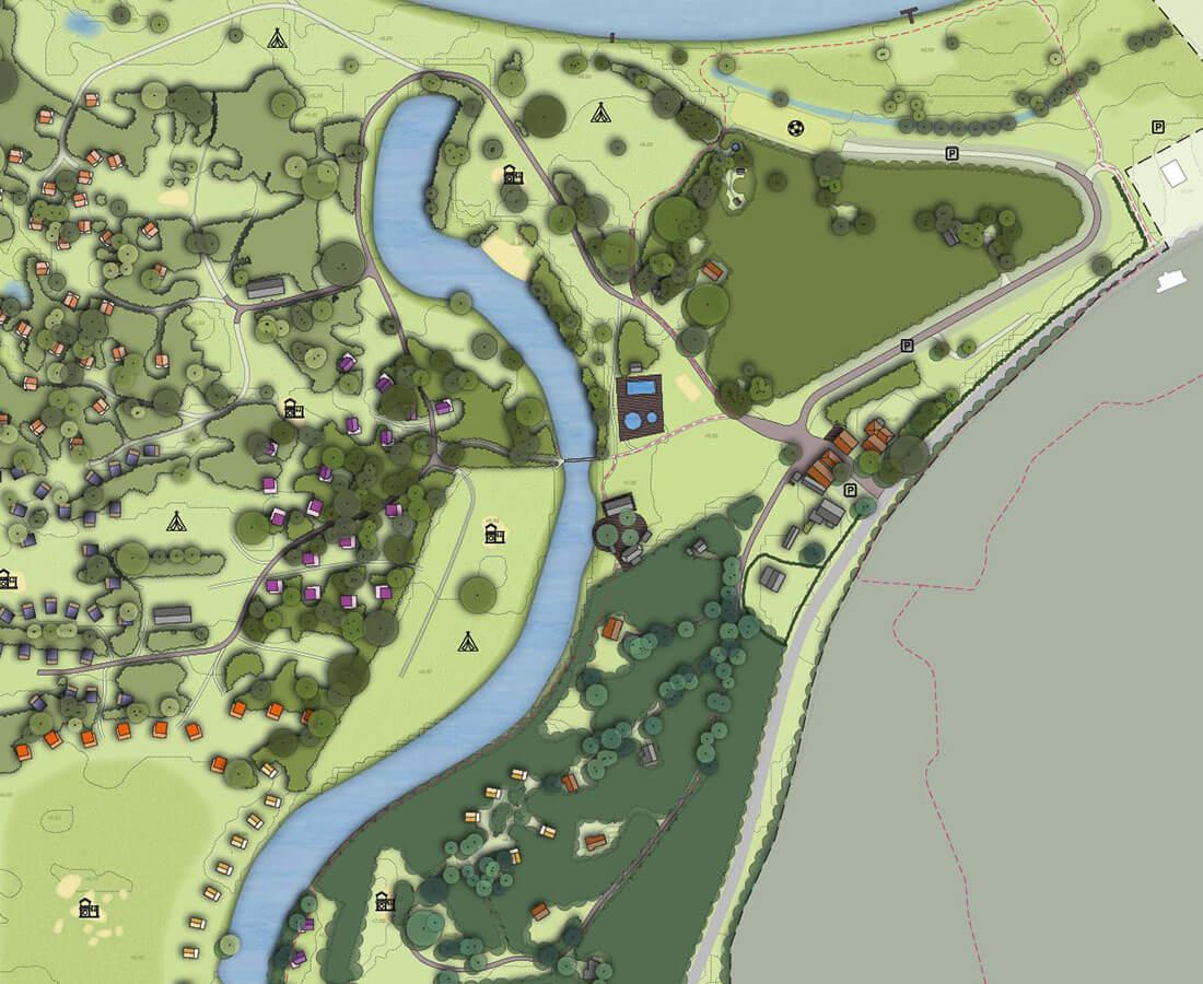 Landschapsplan Camping de Roos Ommen