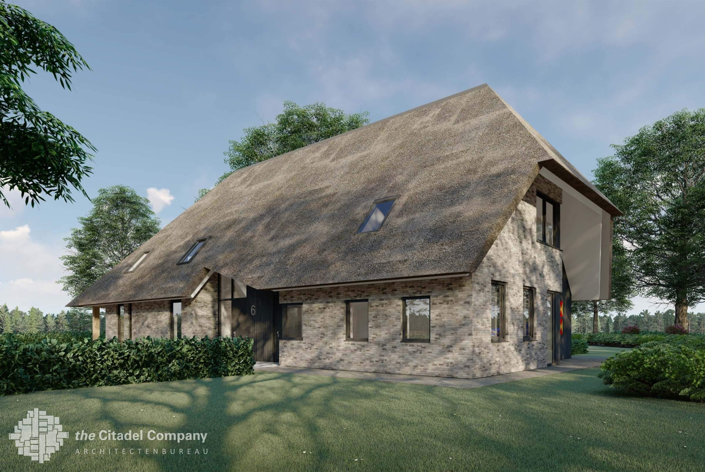 Eigentijdse woonboerderij met B&B Holthone