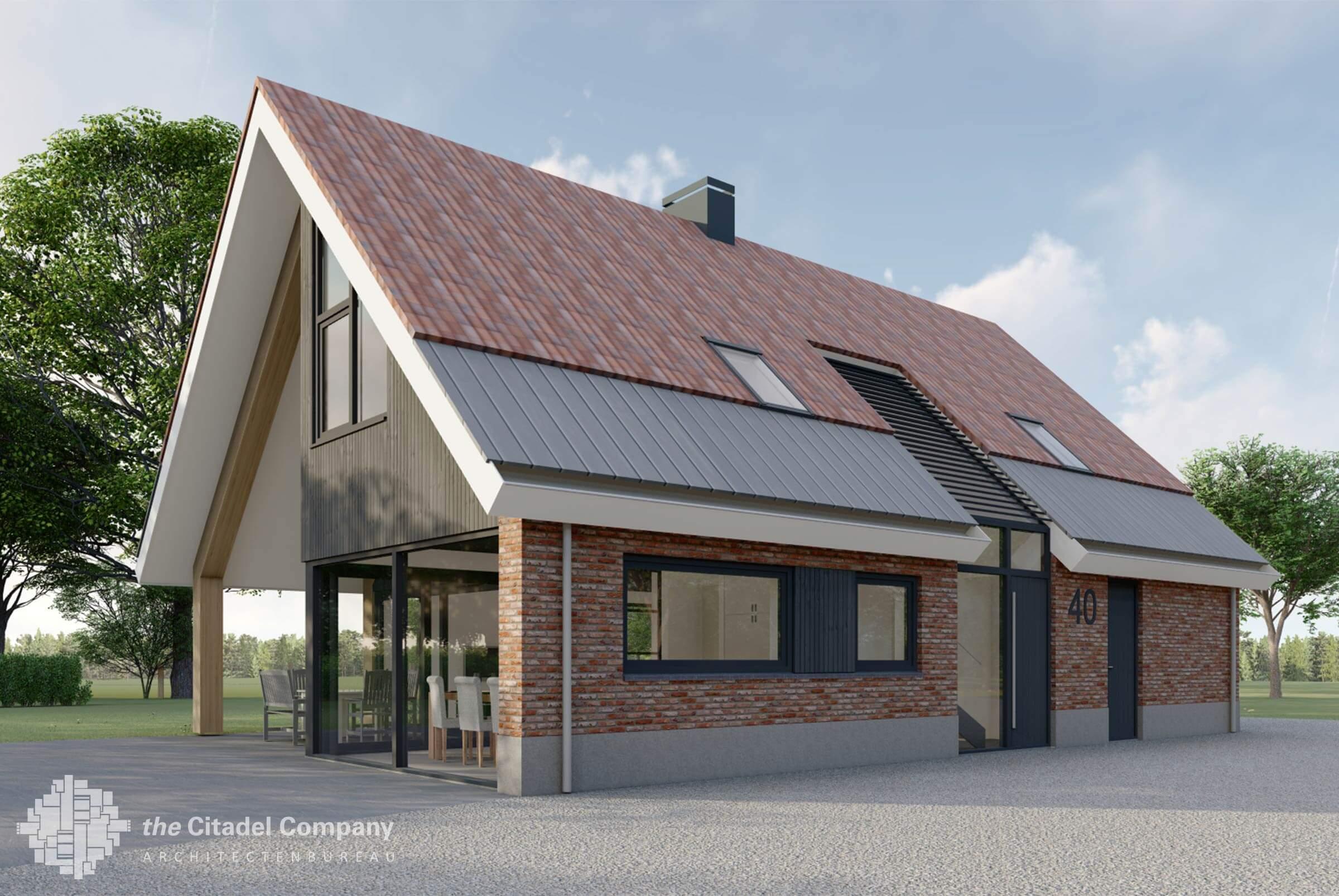 Vrijstaande woning in boerderijstijl Enschede