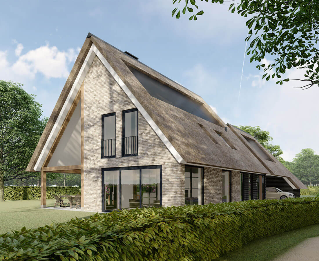 Modern landelijke woning Landgoed Junne