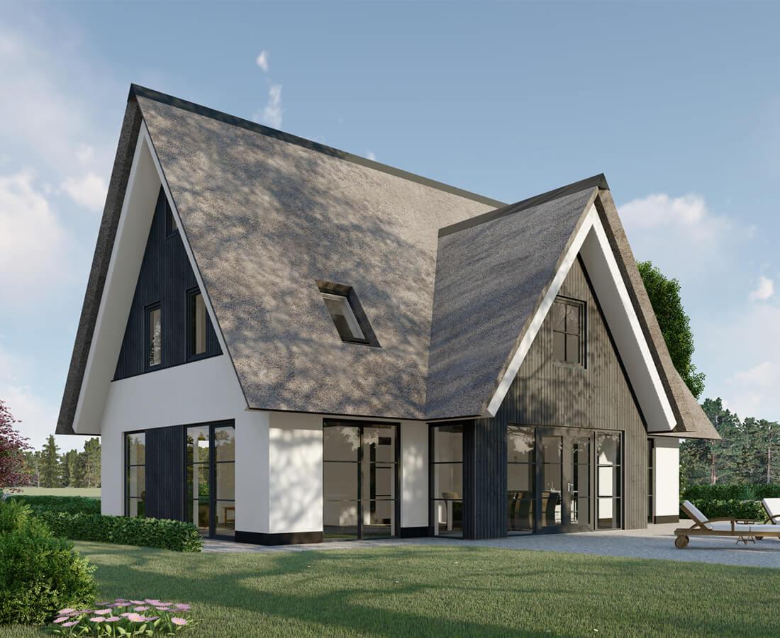 Moderne witte villa Heino