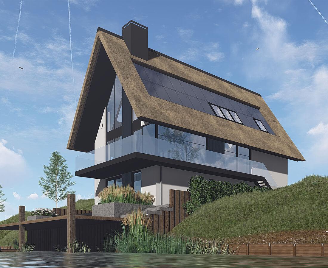 Moderne vrijstaande villa met B&B