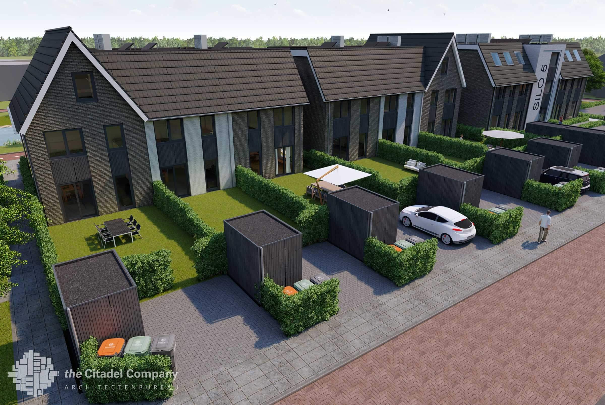 Silo 5, zes woningen en een appartementencomplex